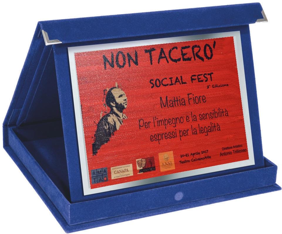 Mattia Fiore - Targa Non Tacer Social Festival