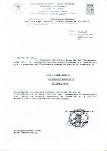 Mattia Fiore - Nomina Cavaliere