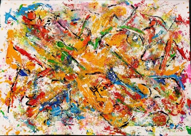 Mattia FIore - 004-2018 – Tecnica mista su cartoncino  35-50 cm