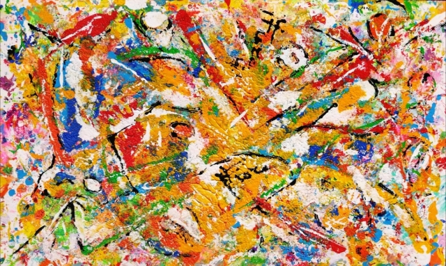 Mattia Fiore - 006-2018 – Tecnica mista su cartoncino  30-50 cm