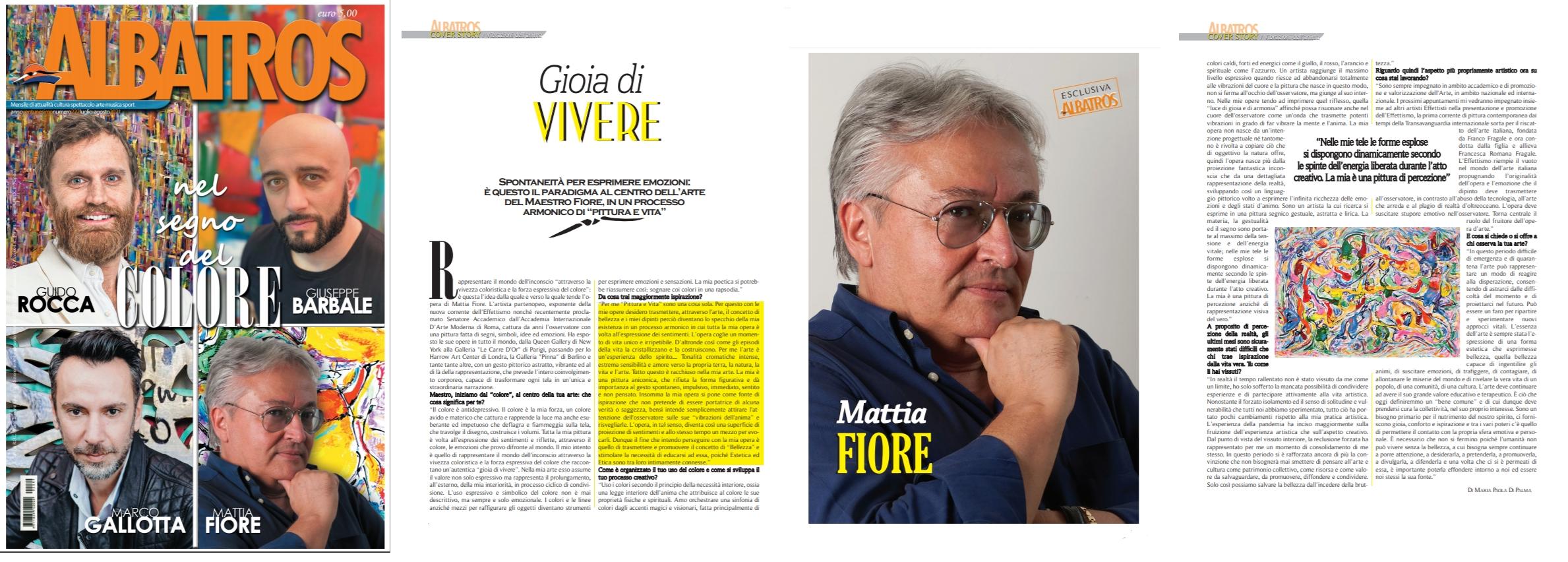 Mattia Fiore - Coverstory Albatros Magaziine Luglio 2021- Articolo 3